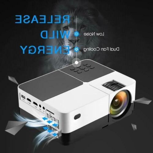mini led projector 1080p support hd usb