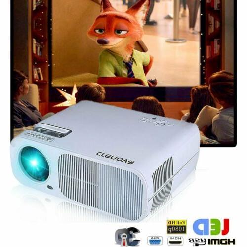 CRENOVA Led HD 1080P Theater Cinema with USB