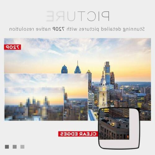 CRENOVA Mini Led Projector HD 1080P Portable Theater with HDMI USB