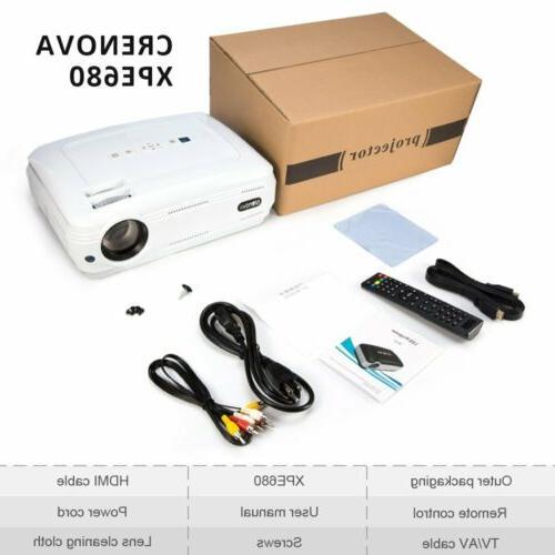 mini led projector hd 1080p portable home