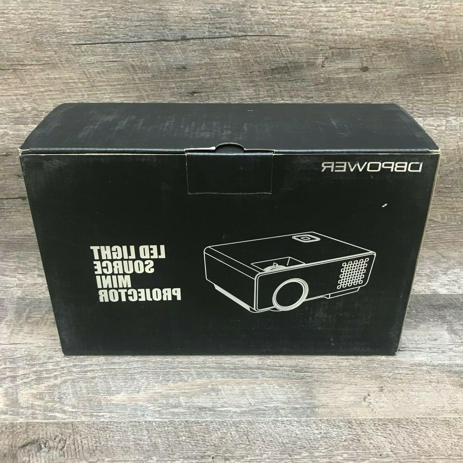 DBPOWER Mini Multimedia Video 1080P HDMI NEW