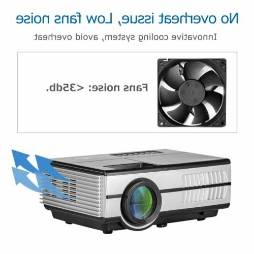 Eug 2800LM Projector HDMI USB VGA Home Theater Movie AV