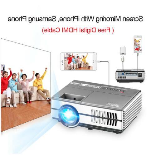 mini led projector video hdmi lighting display
