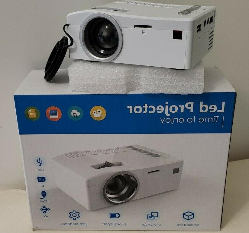 mini led projector white new