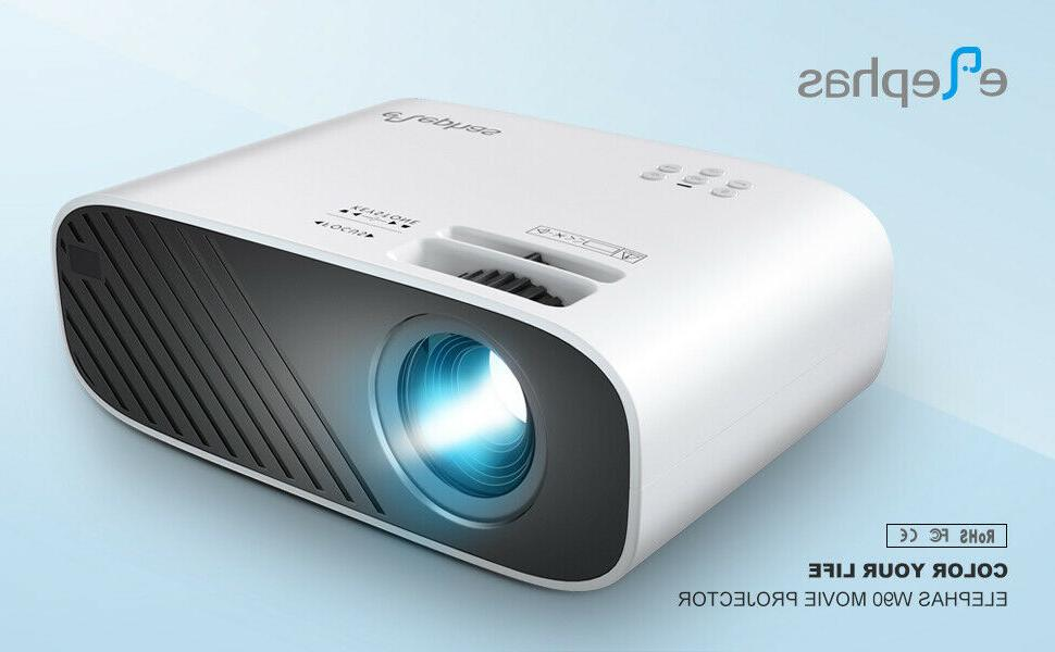 "ELEPHAS Mini Projector, Hours 200"""