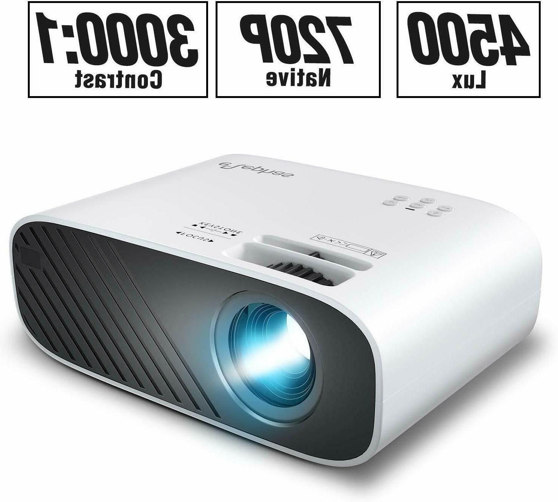 mini movie projector 4500 lux brightness 50