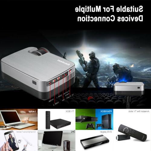 Mini Full 1080P Projector LED Home Theater 5000 Lumens