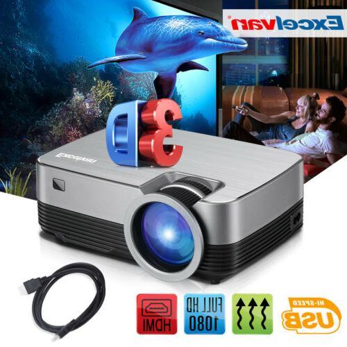 Mini Full 1080P LED Home Theater Cinema 5000 Lumens