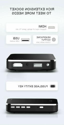 Mini Pocket 3000 DLP Theater Projector 1080P HDMI