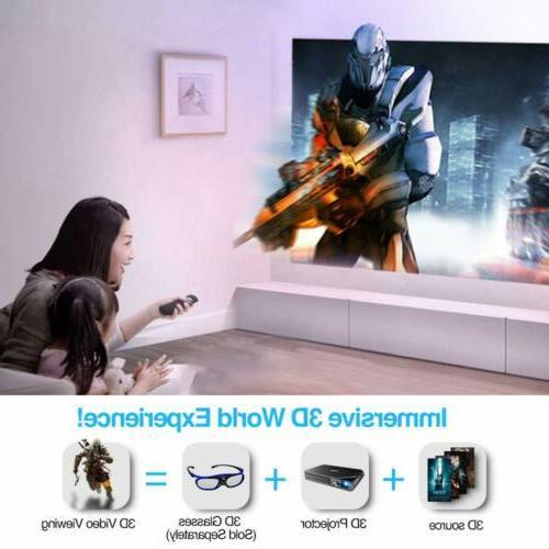 EUG Portable Projector Home Cinema 1080p HDMI