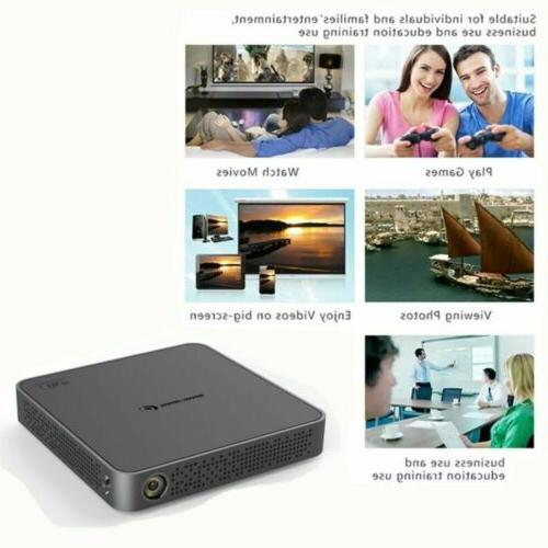 Mini 4K Android Home Theater Wifi Full Projector HDMI US