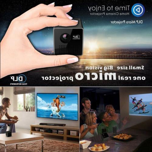 1080P P1+ DLP Wifi Pocket Projector Multimedia USB/TF&
