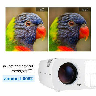 Mini BL20+ LED Projector 1080P Home Cinema Multimedia AV USB