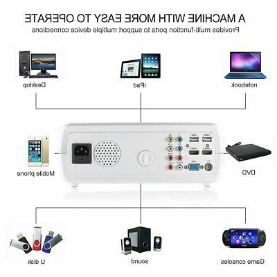 Mini Pocket Projector 1080P Theater Cinema Multimedia HDMI USB