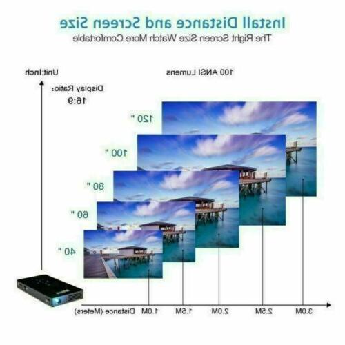Mini Portable 3000 lumens DLP Wifi 1080P Video Home Projector