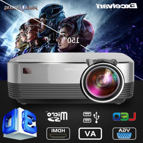 mini portable 5000 lumens projector led multimedia