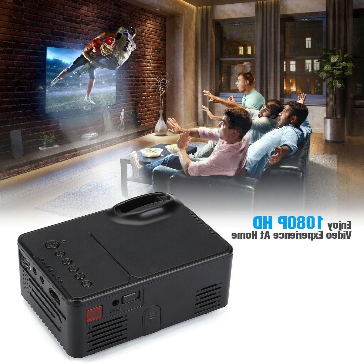 Portable Mini LED Projector HD Home Theater 3D Multimedia Lumens