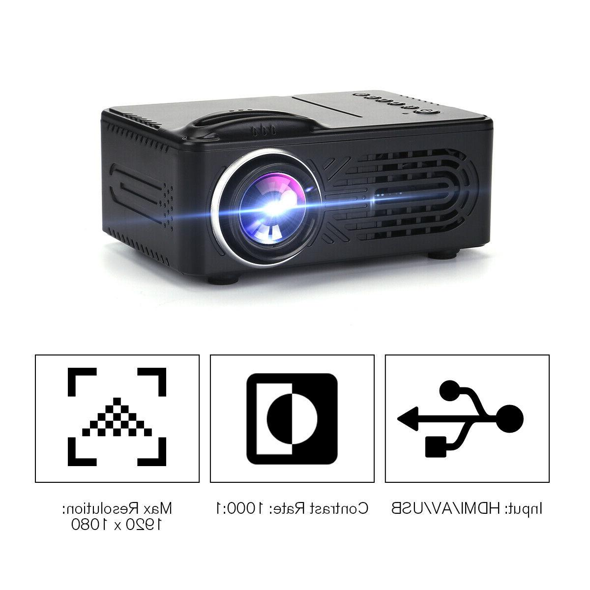 Mini Projector Full HD 1080P Video Movie Home HDMI