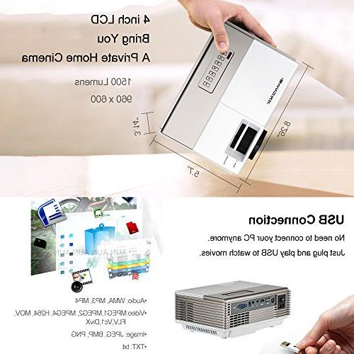 Smart Mini WiFi Portable with Android Bluetooth Home Theater Support 1080P Audio USB for Artwork
