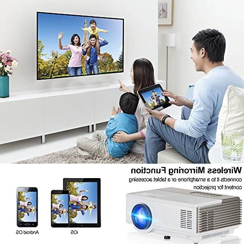Smart Mini Portable 1500 lumen Home Support 1080P Audio USB AV Speakers
