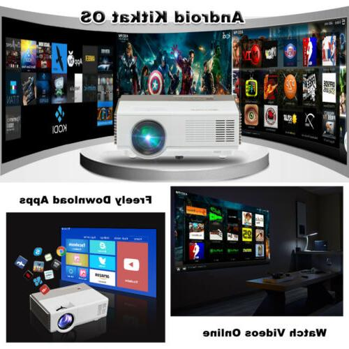 WiFi Bluetooth 1080P FHD Android LCD Projector Home
