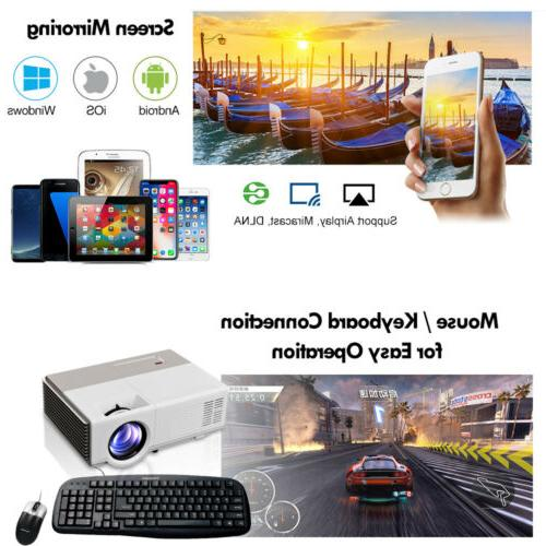 FHD Android LCD Projector Home Movie