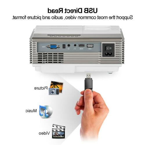 WiFi Bluetooth FHD LCD Projector Home Movie HDMI