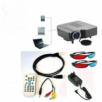 Mini 3D Projector 1080P Multimedia Home Theater VGA USB HDMI SDCard