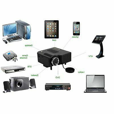 Mini LED Projector Theater USB HDMI SDCard