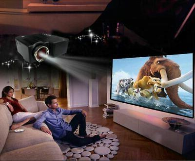 Mini Portable LED Projector 1080P Multimedia Home Theater SDCard