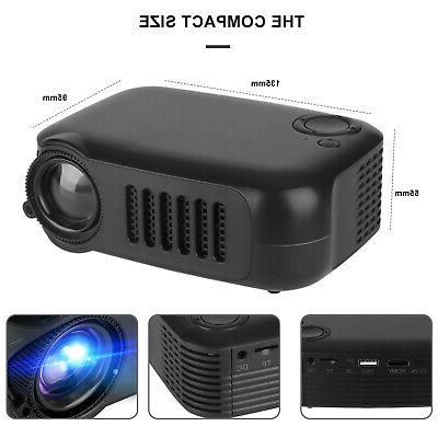 Mini Portable HD 1080p Projector Theater Cinema w/HDMI/AV/USB Port