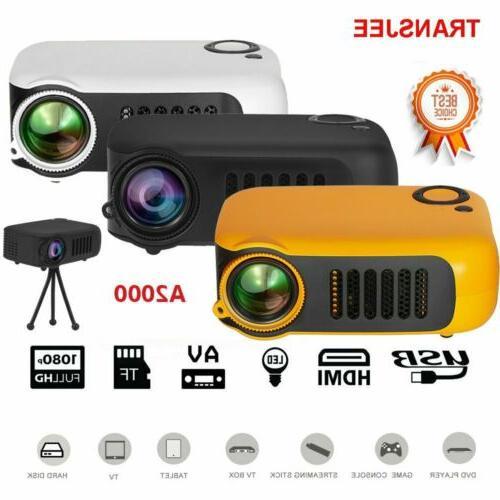 mini portable pocket projector hd 1080p lcd
