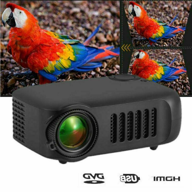 Mini Pocket Projector HD 1080P Home HDMI TF