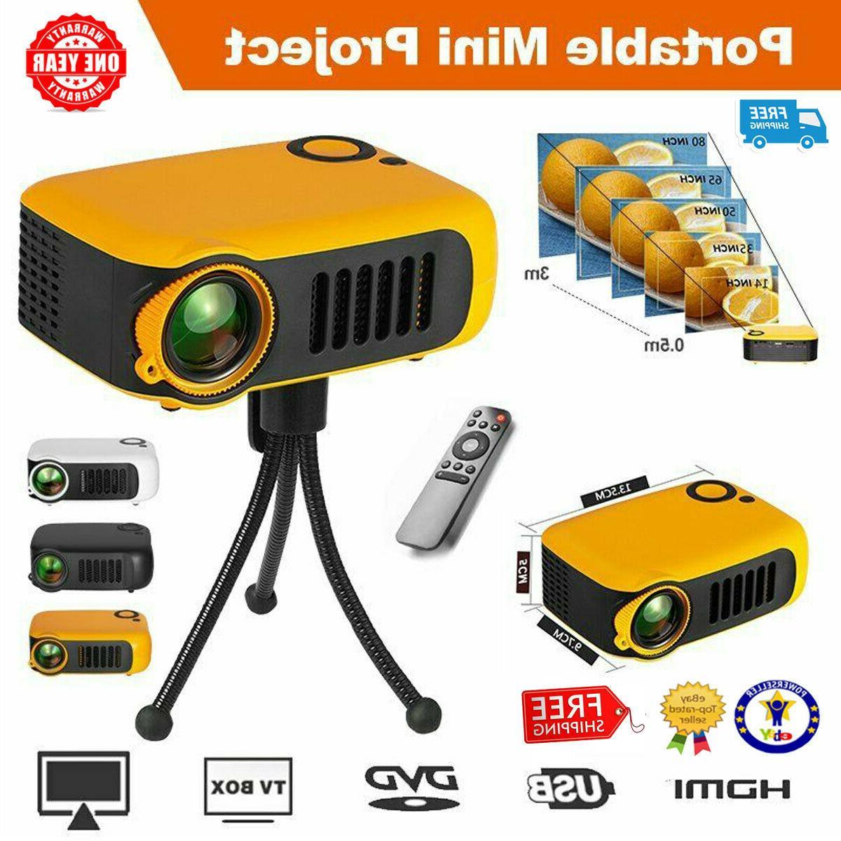 Mini Portable Pocket HD 1080P Home Theater HDMI TF