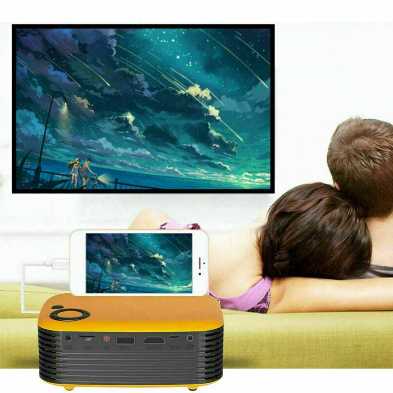 Mini Portable HD 1080P Movie Home HDMI AV TF Gift