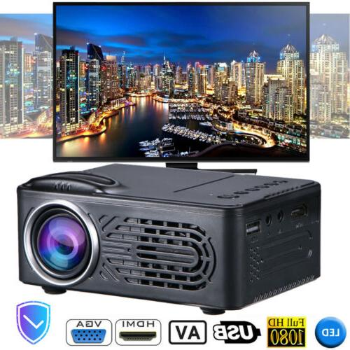 1080P LED Projector Theater USB AV