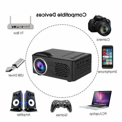 Full HD Movie Mini Portable Projector Screen w/HDMI/AV/USB