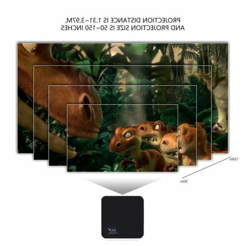 Mini Full HD 1080P Theater Projector HDMI USB