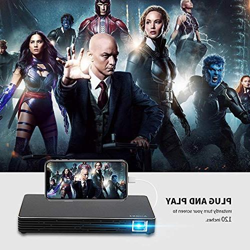 Mini Movie Size Portable Video Android 7.1, Smartphone, Laptop, HDMI, TV,TF Card Outdoor Movie Travel,Gaming