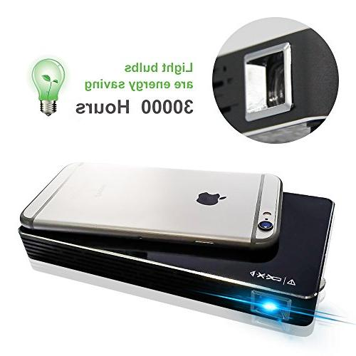 Mini Portable Video Projector-120 Android WiFi,DLP,Compatible with Card Outdoor Movie