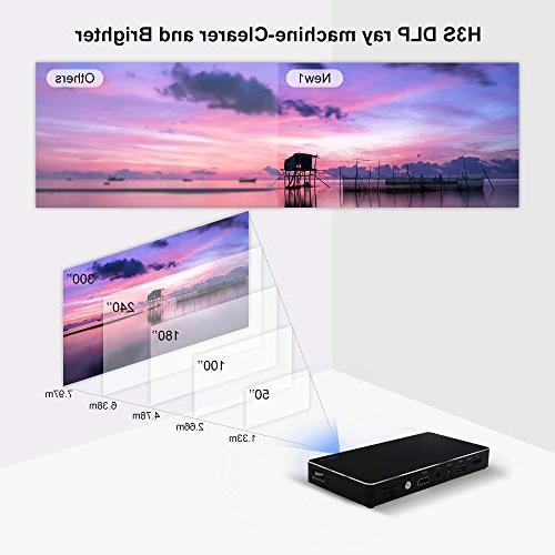 Mini Size Portable Video Projector-120 Android Smartphone, HDMI, Card for Home Cinema, Outdoor