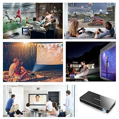 Projector,PoFun Video for Projector with 120 Display,Pico Warranty
