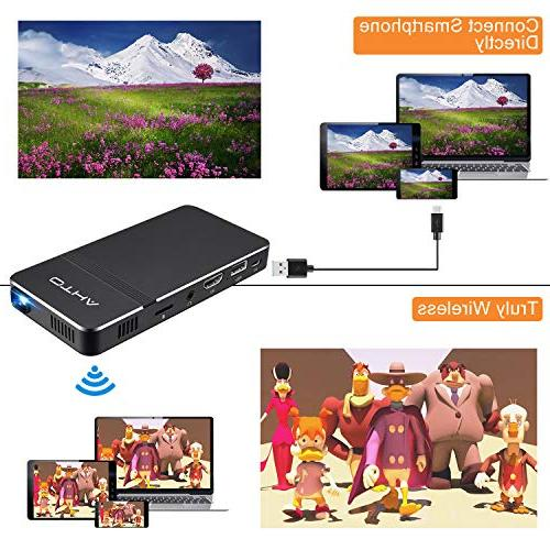 Mini Projector iPhone- Theater with HDMI,Support iPhone PC TF Card(New Version)
