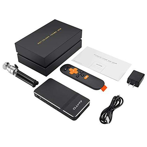 Mini Projector iPhone- Mobile Cinema Theater Projector HDMI,Support iPhone PC USB Version)