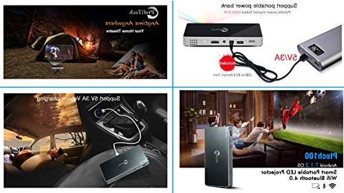 Mini Projector Lumens Android Wireless Wired Screen Compatible iOS/Android Band 2.4G / 5G Auto Keystone