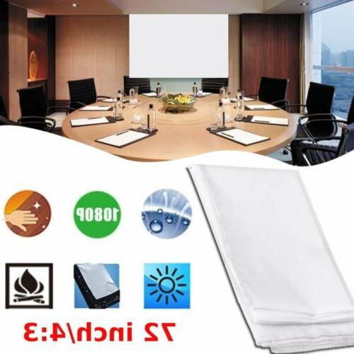 mini projection curtain 72 inch 4 3