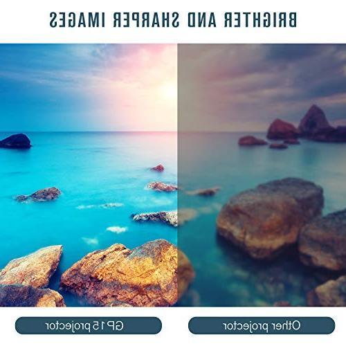 Mini Projector, +50% Portable Mini Support 1080P HDMI SD Card AV for TV, Games, Smartphones,