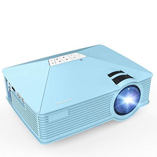 Mini GP15 +50% LCD Mini Video Support 1080P HDMI USB Card VGA AV Multimedia Home Cinema, TV, Laptops, Smartphones, Blue