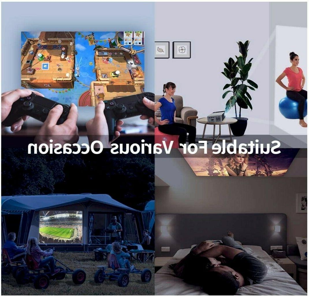 Mini Projector, HD Supported 4500 Lux Video Projector,