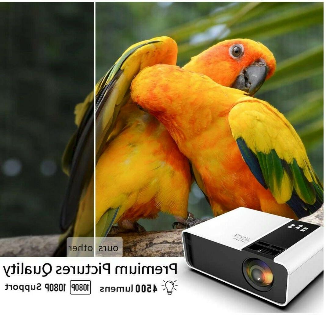 Mini Projector, 1080P Supported 4500 Lux Video Projector, Compatible